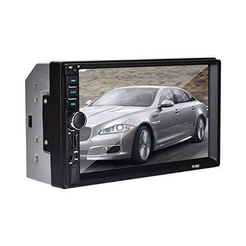 FOLOSAFENAR Radio de Coche de 7 Pulgadas 2 DIN Car Mp5 Player MP5 con 4 amplificadores de Alta Potencia Multimedia Bluetooth 4.0 para Coche para compatibilidad con Varios Idiomas