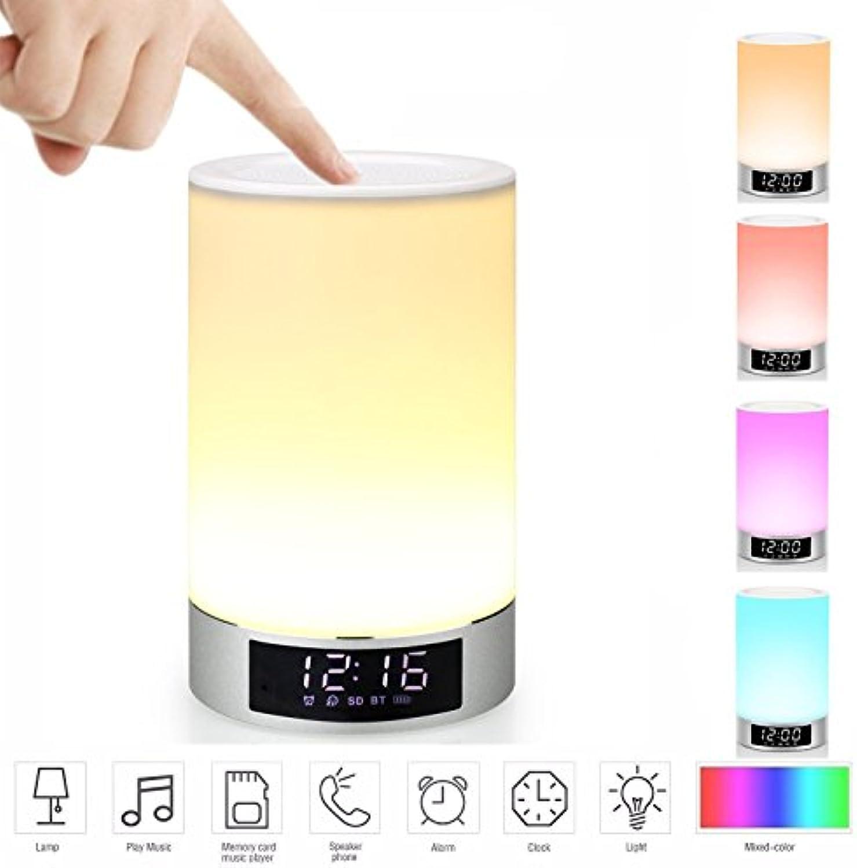 Mabor Wake-Up Light RGB Lichtwecker Blautooth Lautsprecher Farbwechsel Lampe Nachttischlampe Touch Lampe LED Kinder Nachtlicht Modus, Musik Stimmungslicht Tischlampe,Zeituhr,TF-Karten-Musik Spielen