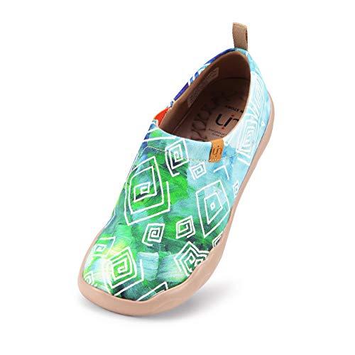 UIN Desigual Art Zapatos Casual comodas el naturalista imprimio Mujer, Lona,Vestir,Plano,Mocasines Verano,niña,señora, Zapatillas Viaje Seguridad