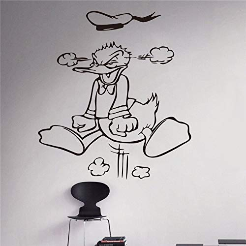 Hetingyue Creative New Angry Cartoon Duck Gepersonaliseerde naam Children Wall Sticker Children's Room Home Decoration Wall Sticker