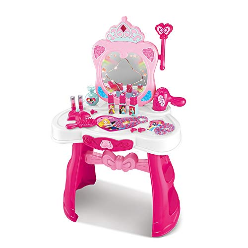 Vector de preparación de los niños Vestir maquillaje cosmético Tabla conjunto de juguete linfoma Non-tóxicos de los niños Caja de la casa del juego del juguete 3-6 años de edad Juego de la muchacha Ca