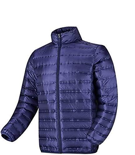 HSY SHOP - Chaqueta ligera para hombre, resistente al agua, plegable, abrigo, acolchado para invierno, para caminar o senderismo