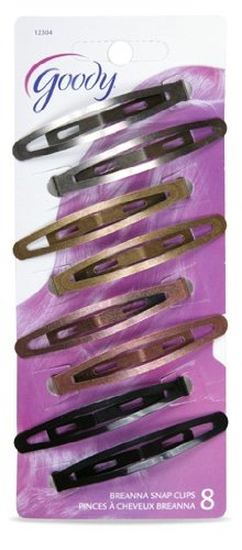 Goody - Womens Classic Oval Metal Contour Clip (Assorted Colors ) (2 Packs of 8 Count - 16 Count)