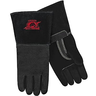 Steiner MIG Gloves, Black SPS Pigskin Palm, Foam Lined Back