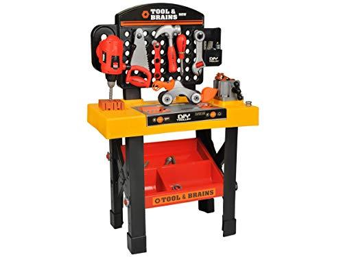 ISO TRADE Werkzeugbank 75cm Hoch Werkbank Set Kinder 3in1 Spielzeug Entwerfen 6728