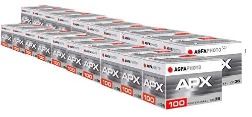 AgfaPhoto APX 100 Prof 135-36 schwarz / weiß Film (20-er Pack bis zu 720 Aufnahmen)