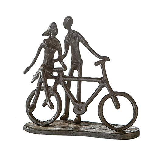 Casablanca 74610 Design sculptuur Pair on Bike - paar op fiets - gietijzer gebruineerd 15 x 15 x 8 cm