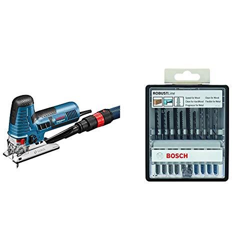 Bosch Professional - Sierra de calar GST 160 CE (800 W, 240 V, L-BOXX) + Bosch - Robustline Madera y Metal