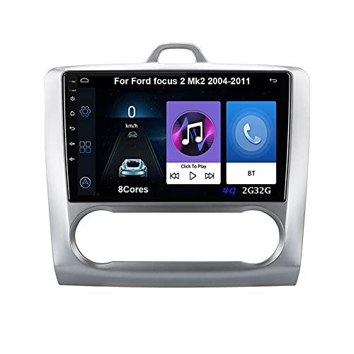 Android 10 Autoradio 9 Pulgadas Coche Radio De Coche Pantalla Tactil Para Ford focus 2 Mk2 2004-2011 Radio Del Coche Car Player Conecta Y Reproduce Coche Audio USB Cámara Trasera