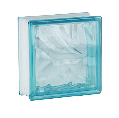 Fuchs Design 5 Stück Glassteine Wolke Azur glänzend 19x19x8 cm