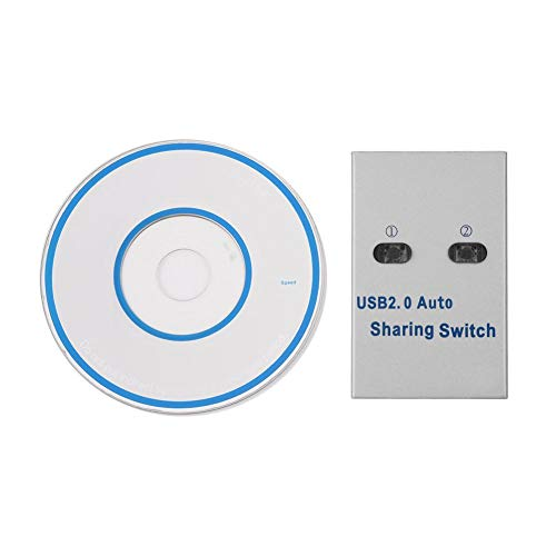 Usb Share Switch, Printer Sharing Swtich, Silver Aluminum Alloy for Printer Scanner Plotter