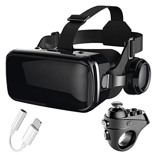 3D Gafas VR, Gafas de Realidad Virtual, Compatible con iPhone y Android para películas y juegos 3D, para iPhone 13/12/11/X/8/7, Samsung S20/S10/Note10, Xiaomi, Huawei, etc.(Color:C)