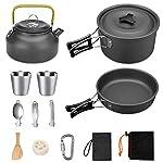 G4Free 13/15 PCS Camping Cookware Mess Kit