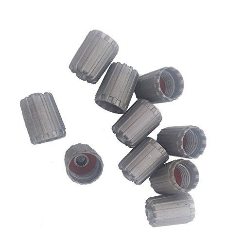 Germban 10 tapones de plástico gris TPMS para válvulas de neumáticos, para coches y camiones