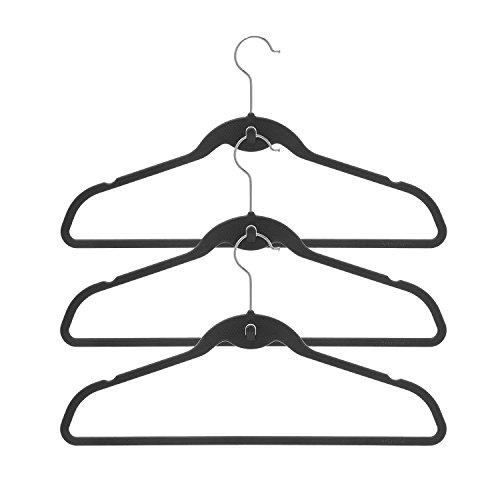 BriaUSA Cascade Hangers Black Steel Swivel Hooks -Slim Sturdy Saves You Extra Space - Set of 10
