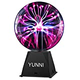 Plasma Ball, YUNNI Lava Lamp for Kids, 8'Inch Plasma Globe Touch and Sound Sensitive, Plug in Plasma Ball, Party Decoration Suitable for Kids, Gift and Festival