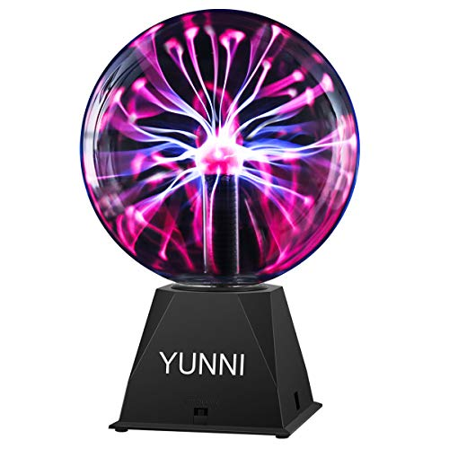 YUNNI Plasma Ball 8 Inch Touch & Sound Plasma Lamp Nebula Sphere Plasma Globe Ball Toy for Decoration, Party, Kids, Festival, Gift