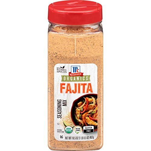McCormick Organics Gluten Free Fajita Seasoning Mix, 16.5 oz