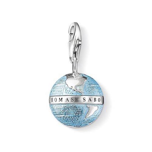 Thomas Sabo Damen-Charm-Anhänger Weltkugel Charm Club 925 Sterling Silber 0754-007-1