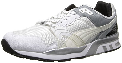 PUMA Men's Trinomic XT2 Plus Tech Classic Sneaker,White/Gray/Silver Metallic,12 M US