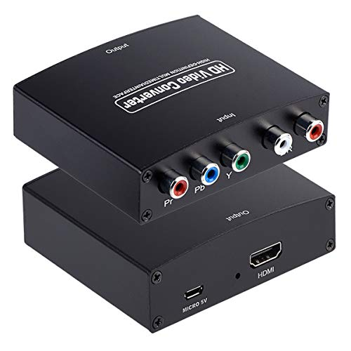 YPbPr to HDMI Converter, Component to HDMI, RGB to HDMI Converter Supports 4K Video Audio Converter Adapter HDMI V1.4 for DVD PSP Xbox 360 PS2 Nintendo to HDTV Monitor and Projector