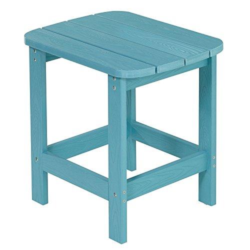 NEG Design Adirondack Tisch Marcy (türkis-blau) Westport-Table/Beistelltisch aus Polywood-Kunststoff (Holzoptik, wetterfest, UV- und farbbeständig)