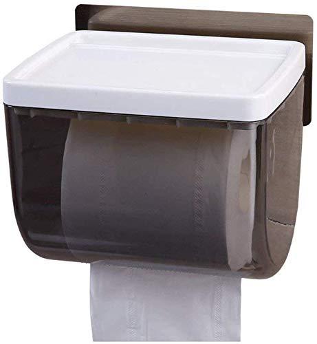 Leyue Porta Papel higiénico Simple Familia Toalla de Pared montada para baño Caja de Toallas de Papel ABS (Tamaño (Size : A)