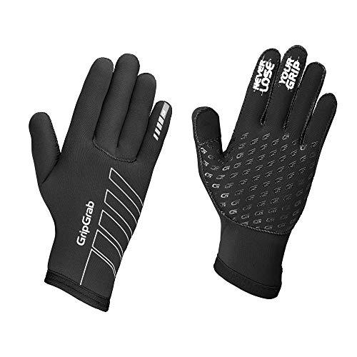 GripGrab Neopren Regen Fahrrad Vollfinger Winter Radsport Handschuhe-Rennrad, MTB, CX-Damen, Herren, Schwarz, XXL