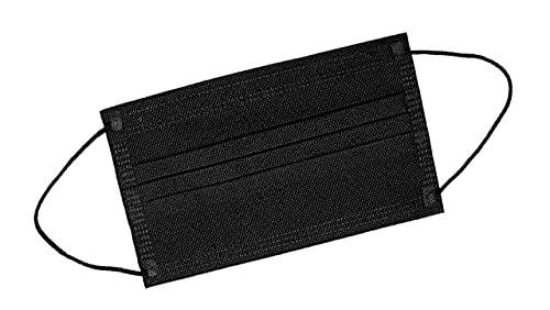 TBOC Mascarilla Higiénica Niños No Reutilizable -  [Pack 30 Unidades] 3 Capas [Color Negro]