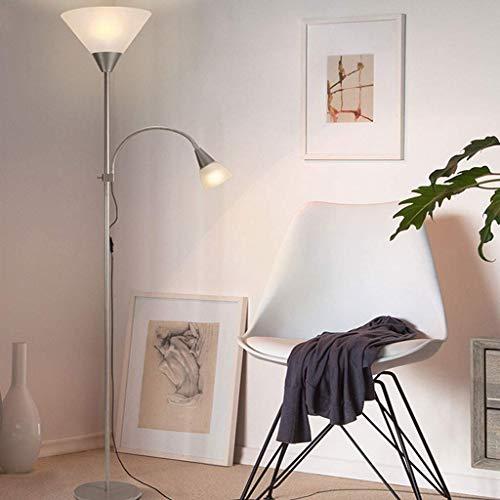 GBX Wohnzimmer, Hotel, Schlafzimmer, Stehlampen Led Stehleuchte Für Wohnzimmer Schlafzimmer, Einstellbare Super Helle 5 Watt Weißlicht Vertikale Stehlampe,Graues Licht