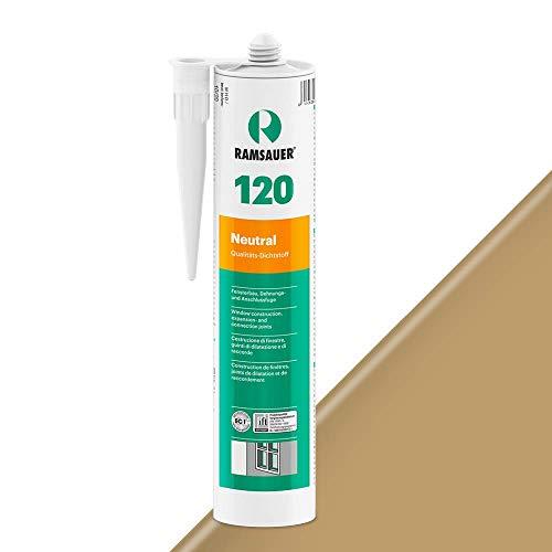 Ramsauer 120 Neutral 1K Silikon Dichtstoff 310ml Kartusche (Eiche Dunkel)