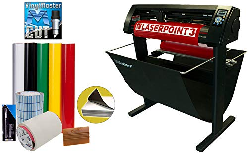 "34"" LaserPoint 3 Vinyl Cutter Plotter with Contour Cutting, Vinyl, Tape, Tools (Bundle)"