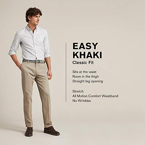 Dockers Men's Classic Fit Easy Khaki Pants D3, Timberwolf, 33 32