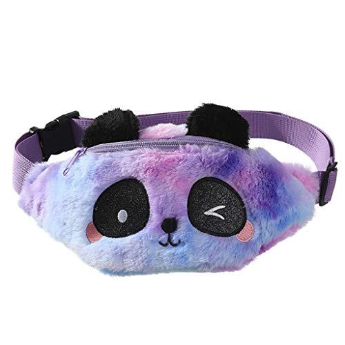 PING - Riñonera de peluche con diseño de animales de peluche, ideal para niñas, regalos de hija, C, C