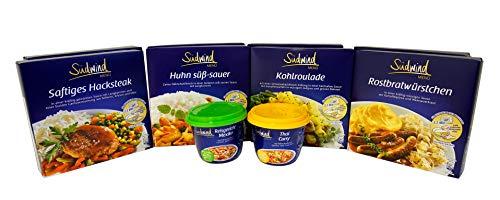 Unser Genießerpaket - verschiedene Fertiggerichte für die Mikrowelle - Lebensmittelvorrat - keine Versandkosten - Südwind Lebensmittel