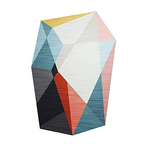 COZY Alfombra de Arte 3D Creativa nórdica Moderna, Alfombra Antideslizante de sofá de Sala de Estar de Estilo Europeo (Size : 80cm/31.49in*120cm/47.24in)