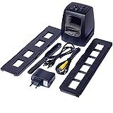 Vokmon Escáner de película Digital de 35 / 135mm Positivo Negativo escáner de Diapositivas de película con LCD de 2,4 Pulgadas Sn, Enchufe de la UE
