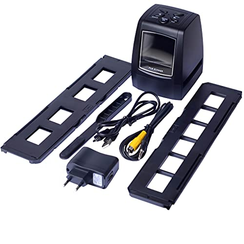 rongweiwang Escáner de película Digital 35   135mm Escáner de película de Diapositivas negativas positivas 35   135mm Escáner de película con Pantalla LCD de 2.4 Pulgadas, Enchufe de la UE