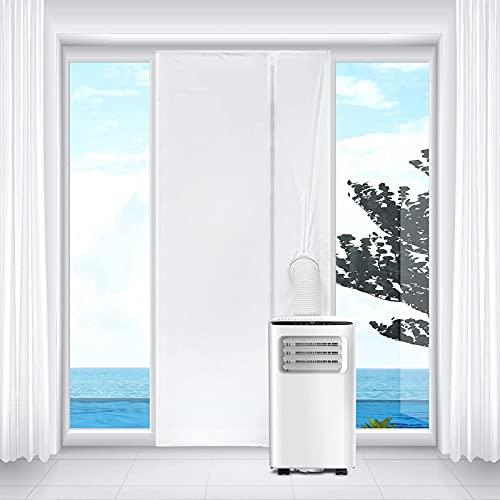 Xisimei Copertura per porta e finestra, per climatizzatore mobile, 90 x 210 cm, per porta e finestra, kit di copertura per porta e finestra, guarnizione in panno morbido