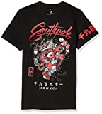 Southpole Men's Classic Graphic Tee, Black Dragon, Large