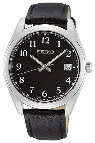 Seiko Reloj Analógico para Hombre de Cuarzo con Correa en Cuero SUR461P1