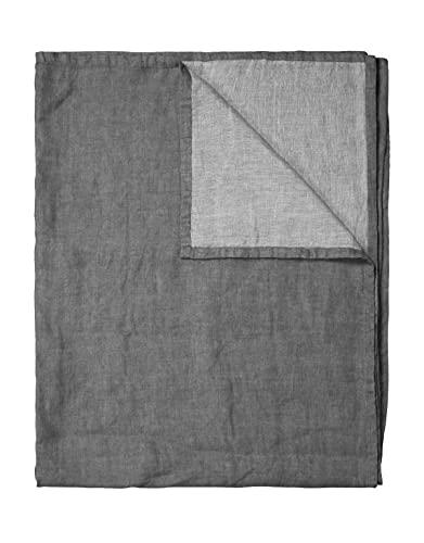Marc O'Polo Quilt Linka Uni Dunkelgrau, 220x265 cm