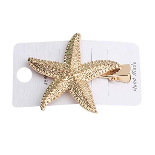 Ozean-Stil Metall-Legierung Gold Haarspangen Frauen Hohl Muschel Conch Haar Styling Barrette Faux Perle Strass Entenschnabel Haarspange