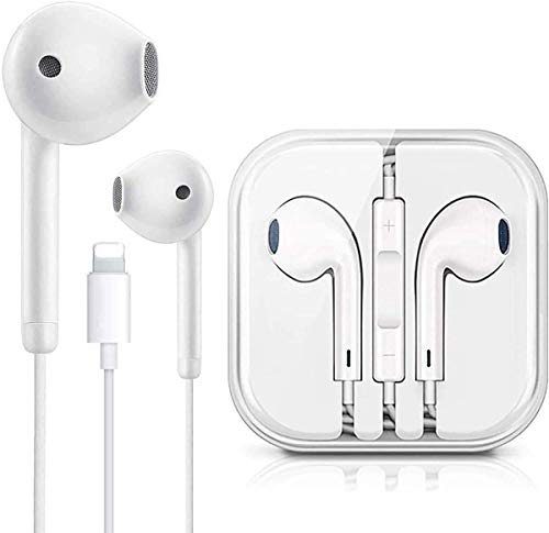 Earbuds Headphone Wired Earphones Headset with Microphone and Volume Control, Compatible with iPhone Xs/XR/XS Max/iPhone 7/7plus 8/8plus /11/12/pro/se