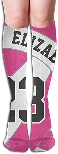 Lustiger rosa Volleyball Lustige athletische Socken Beste kniehohe Socken für Frauen & Männer, die Reise laufen lassen