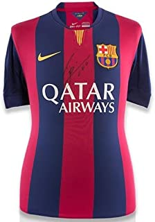 LIONEL LEO MESSI Autographed FC Barcelona Home Shirt Jersey ICONS