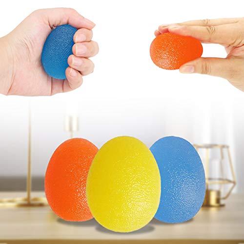 QIUDI Gel-Handbälle [3 Stück], Therapie-Übungs-Gel Squeeze Bälle für Arthritis Hand, Finger, Griffstärkung und Stressabbau