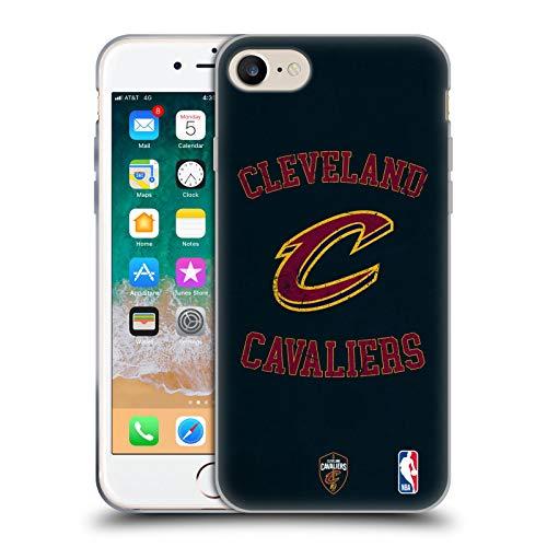 Head Case Designs Ufficiale NBA Aspetto Sdrucito 2019/20 Cleveland Cavaliers Cover in Morbido Gel Compatibile con Apple iPhone 7 / iPhone 8 / iPhone SE 2020