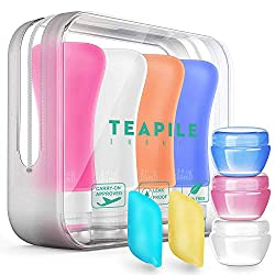 9 Pack Toiletries Travel Bottles