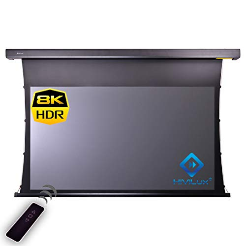 HiViLux Tension Motor Leinwand Hochkontrast Grau Tuch: HiViGrey Cinema 5D Gain=1,35 (16:9 Bild:265x149cm 120' Diagonal, Schwarz)
